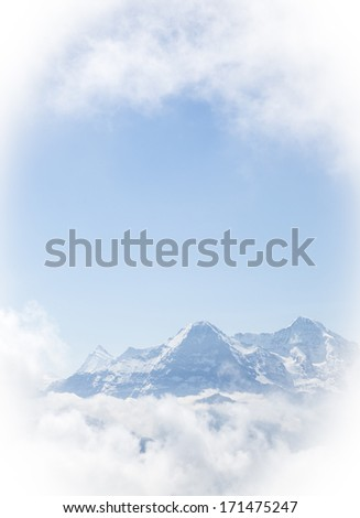 Finsteraarhorn, the North Face of the Eiger and Moench, Bernese Alps, Switzerland, Europa
