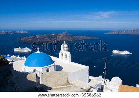 Fira, Santorini, Cyclades, Greece