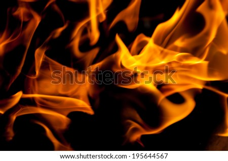fire against black background