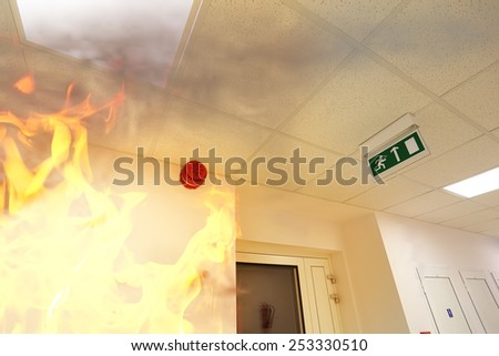 Fire alarm! - stock photo