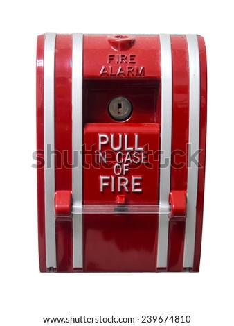 fire alarm case - stock photo