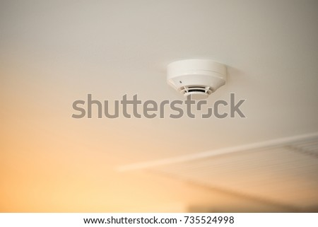 fire alarm of fire detector on a ceiling