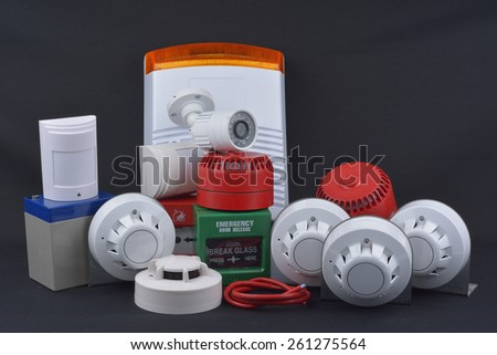 Fire alarm security - stock photo