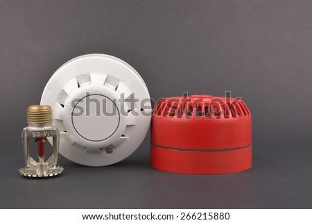 Fire alarm security - stock photo