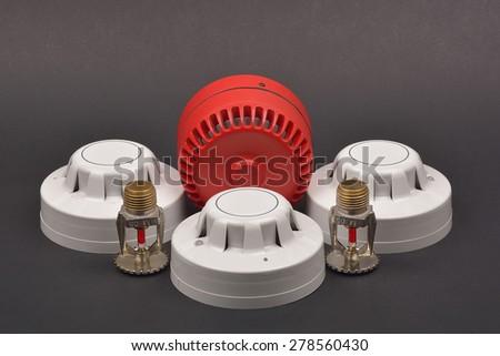 Fire alarm security. - stock photo