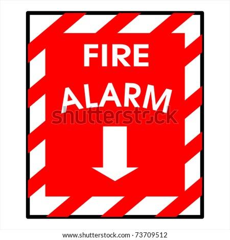 fire alarm sign - stock photo
