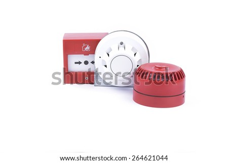fire alarm system - stock photo