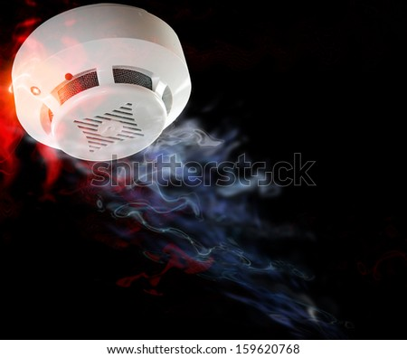 Fire alarm will be triggered. - stock photo