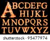 fire alphabet - stock photo