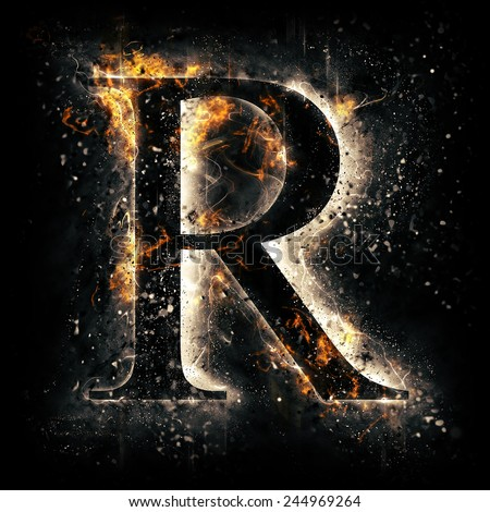 Fiery Letter R Font Stock Images, Royalty-Free Images ...