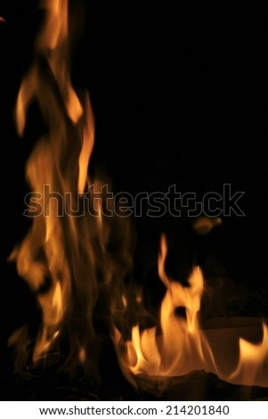 Fire Background Beautiful Golden Colors Through Stock