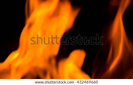 fire background blur