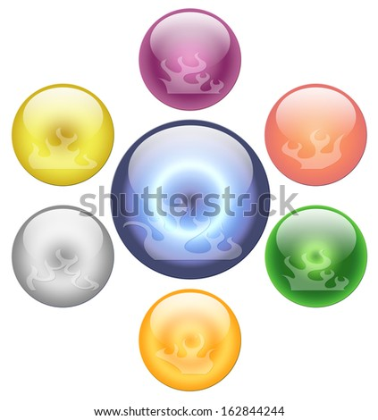 Fire ball on white background - stock photo