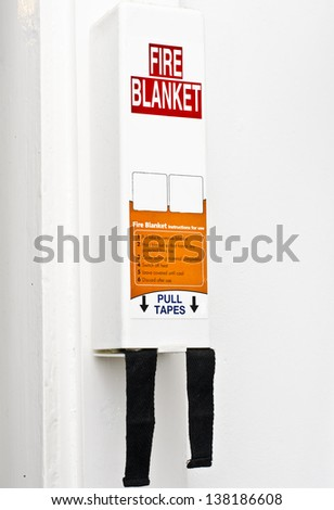 Fire blanket - stock photo