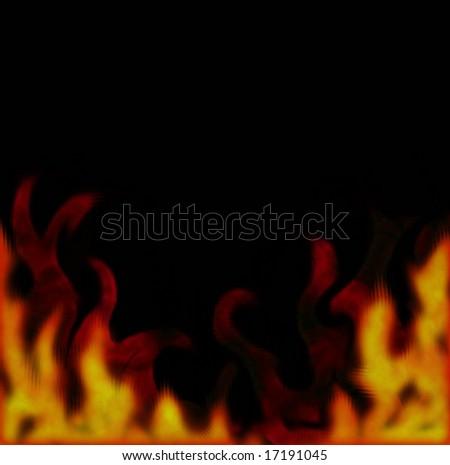 Fire border. - stock photo