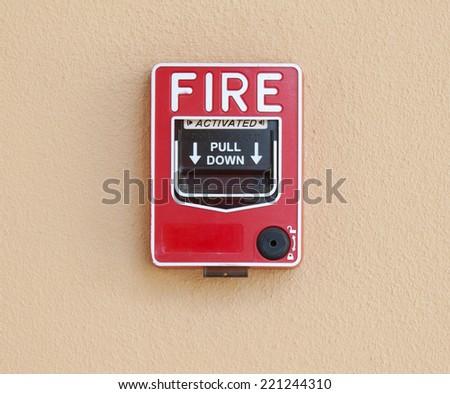 fire break glass background - stock photo