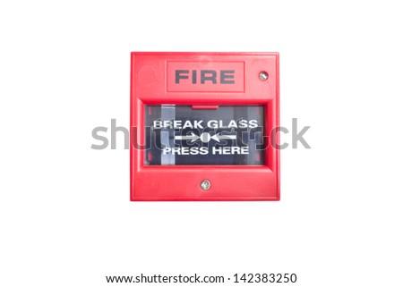 Fire break grass on white background - stock photo