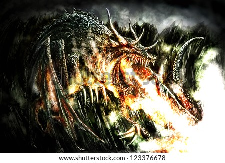 Fire Breathing Dragon Tattoo Designs Fire Breathing Dragon