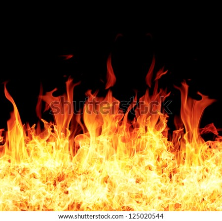fire burning - stock photo
