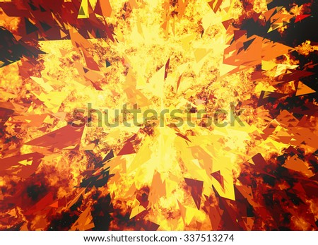 fire burst on black backgrounds - stock photo