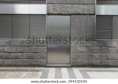 Fire doors - stock photo