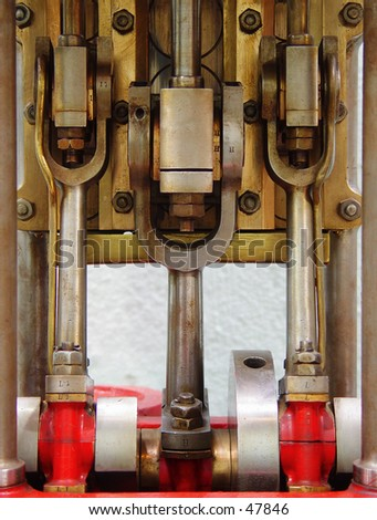 fire engine pump - stock photo