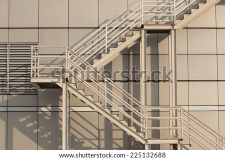 Fire escape  - stock photo