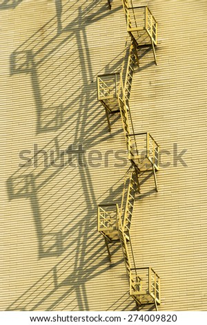 fire escape on the house - stock photo