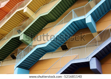 Fire escape stairs, background