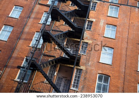 fire exit - stock photo