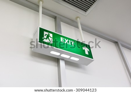 Fire exit light sign