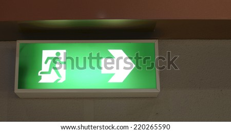 fire exit sign , Emergency exit symbol - stock photo