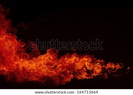 Fire explosion , Blaze Fire flames  background - stock photo