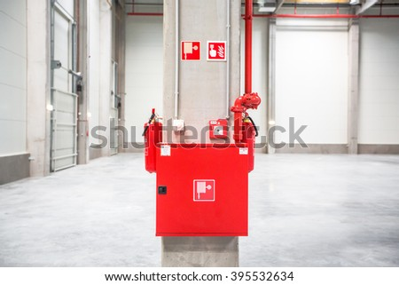 Fire extinguish equipment - stock photo