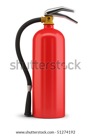 Fire extinguisher. 3d image. Isolated white background.