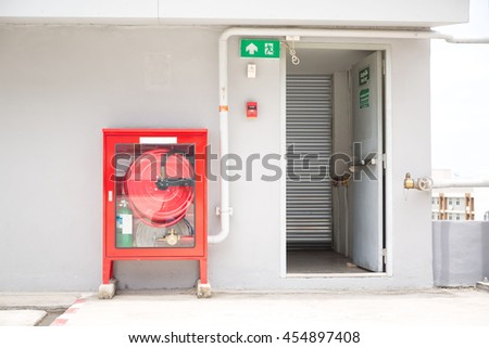 fire extinguisher equipment   - stock photo