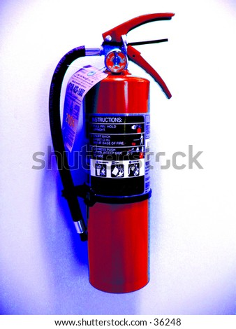 Fire Extinguisher Front (1 of 2 Photo) - stock photo