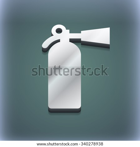 fire extinguisher icon symbol. 3D style. Trendy, modern design with space for your text illustration. Raster version - stock photo