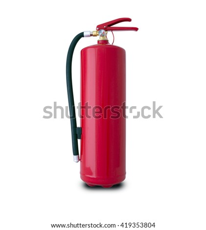 fire extinguisher isolated with clipping path