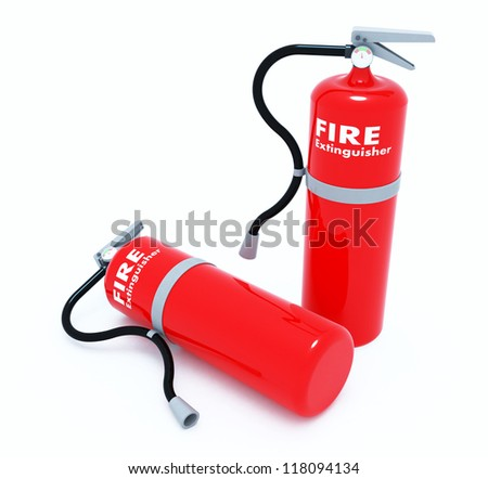 Fire extinguisher made from three dimensional software