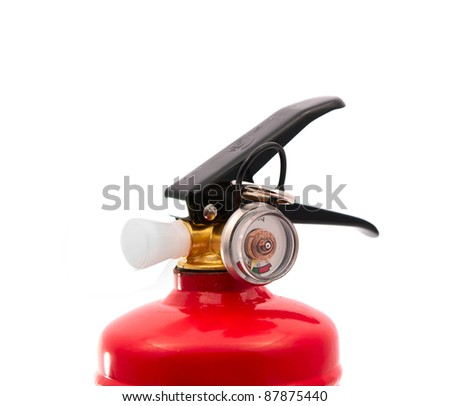fire extinguisher on a white background