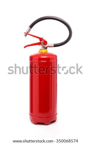 Fire extinguisher on white background - stock photo