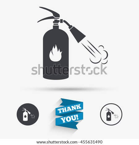 Fire Extinguisher Sign Icon Fire Safety Stock Illustration 455631490