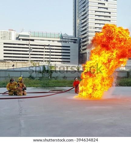 Fire Fighting Training - stock photo