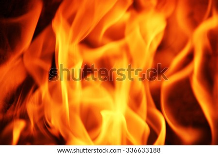 Fire flame texture background - stock photo