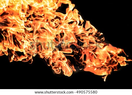 Fire flame texture background, Gasoline explosion