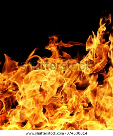 Fire flames. - stock photo