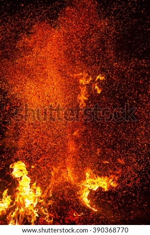 Fire flames background. blaze fire flame texture background. Burning fire flame background - stock photo