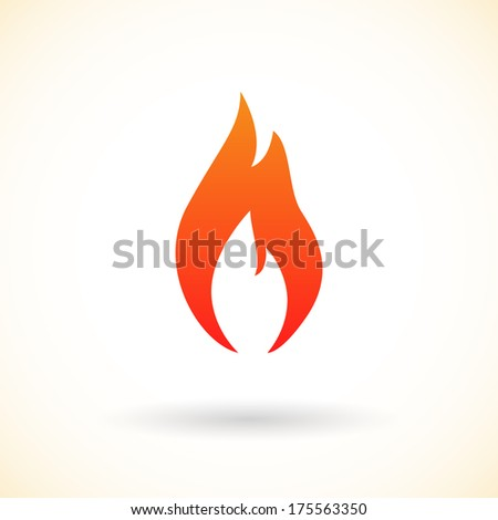 Fire flames icon. Raster version. - stock photo