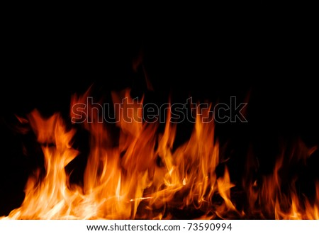 fire flames on a black - stock photo